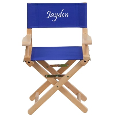 PERSONALIZED KID SIZE DIRECTORS CHAIR IN BLUE